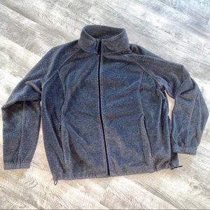 Gray Fleece Jacket Coat Zip Up Columbia 3X
